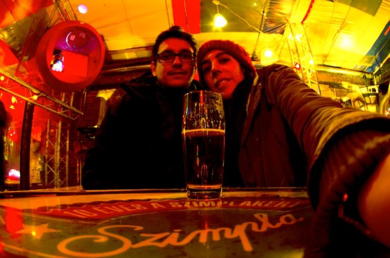 En el ruin bar Szimpla, en Budapest