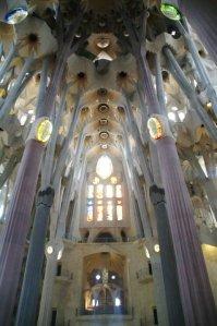 Interior de la Sagrada Familia, Barcelona