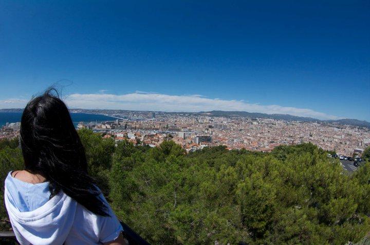 Vistas de Marsella desde la Basílica Notre-Dame de la Garde