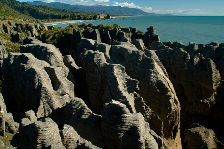 Pancake Rocks en Punakaiki, Nueva Zelanda