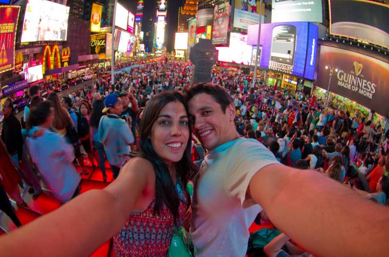 En pleno Time's Square en Nueva York