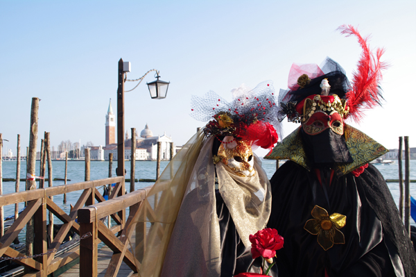 Máscaras en el Carnaval de Venecia