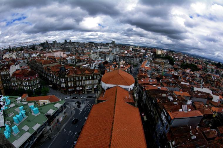 Vista de Oporto desde la Torre de los Clérigos