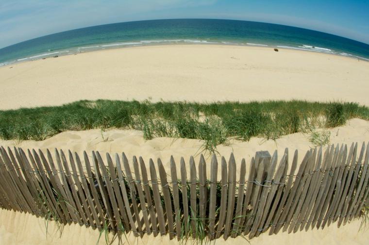 Vistas desde la duna Pilat en la bahía de Arcachón