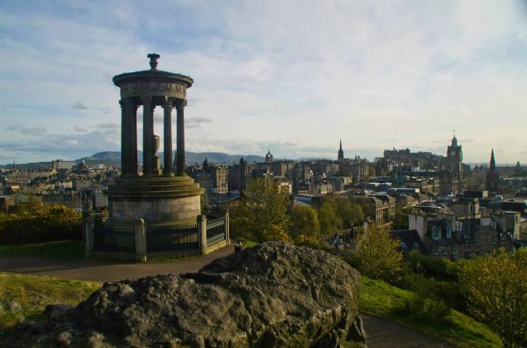 Atardecer sobre Edimburgo desde Calton Hill