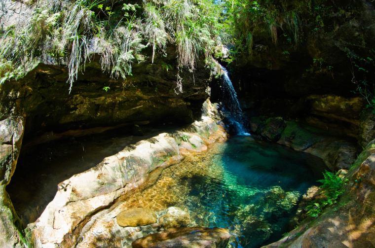Una de las maravillosas piscinas naturales del Parque Nacional de Isalo