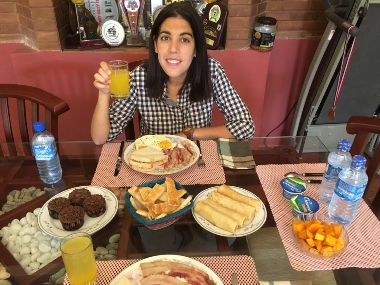 El desayuno más grande y variado de nuestro viaje, en Springdale Residence, Kandy