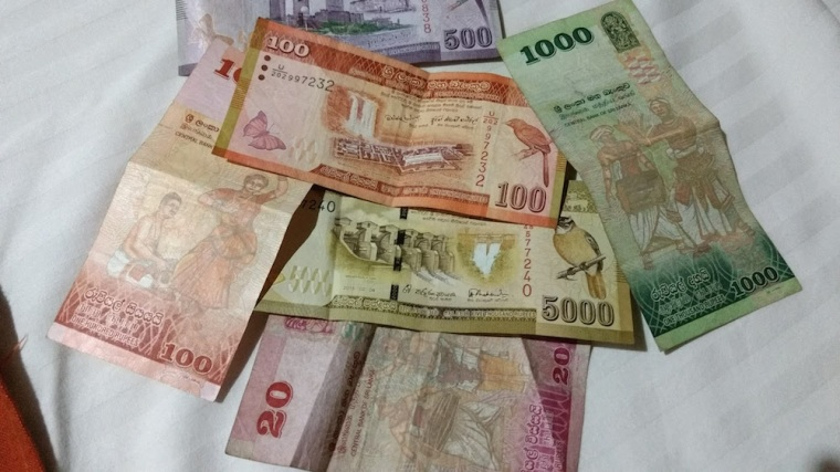 Los billetes de rupia de Sri Lanka son realmente bonitos