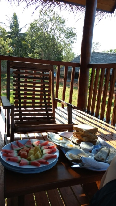 Hotel Sigirya Watter Cottage: desayuno en la terraza