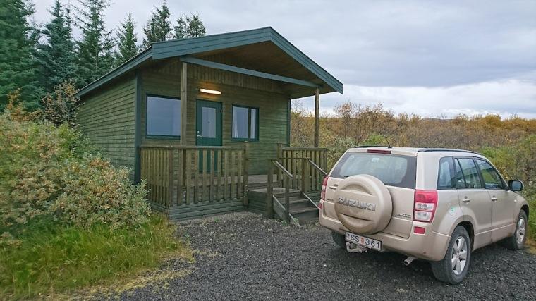 Nuestra cabaña propia en el Guesthouse Svartiskógur, cerca de Egilsstaðir, en los fiordos del Este de Islandia