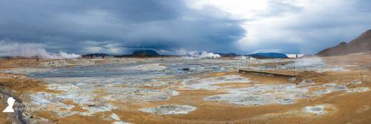 Zona geotermal Hverir en las inmediaciones del lago Myvatn