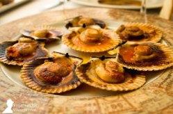 Zamburiñas, uno de los platos que disfrutamos en Terraza de Chicolino, en A Pobra do Caramiñal
