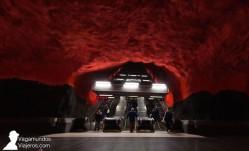 Estación de metro Solna Centrum en Estocolmo