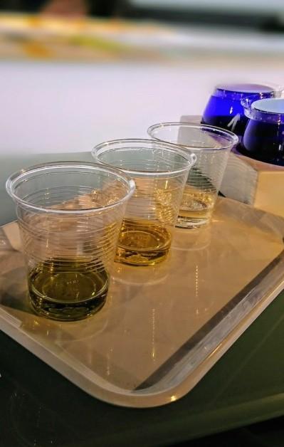 Los 3 primeros aceites que catamos en Terra Oleum, como iniciación