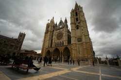 Catedral de León, de estilo gótico francés, situada en el punto más alto de la ciudad