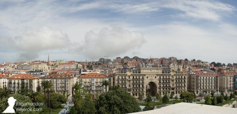 Vistas de Santander desde el Centro Botín